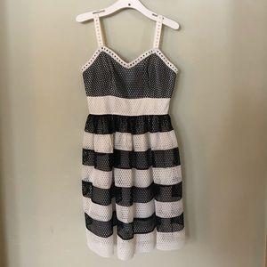 Black andWhite striped Dress